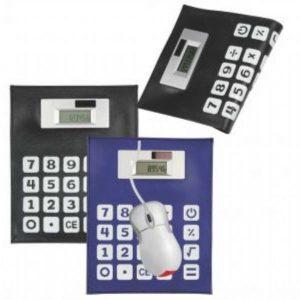 Mouse Pad com Calculadora YBX12017-preto