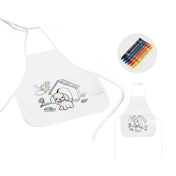 Avental de criança para colorir YBP59834