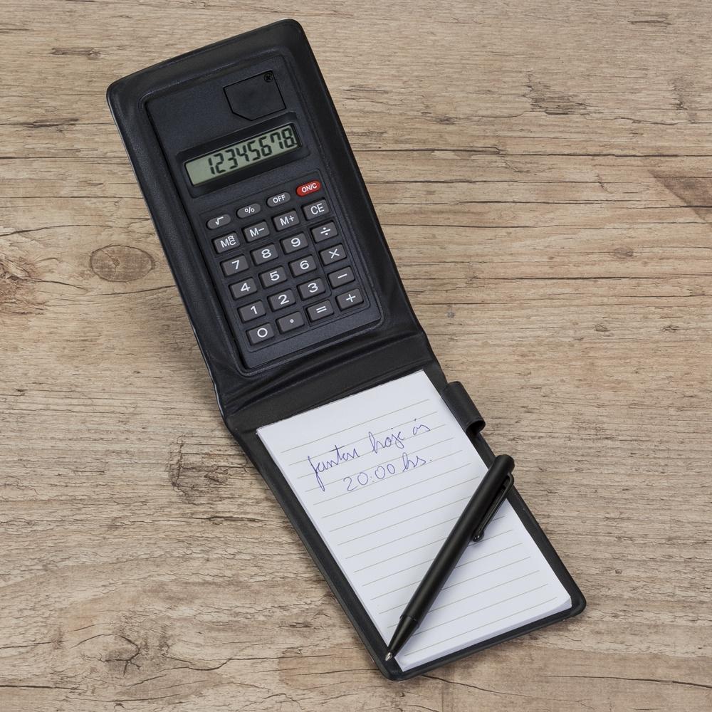 Bloco de Anotações com Calculadora e Caneta YBX12521