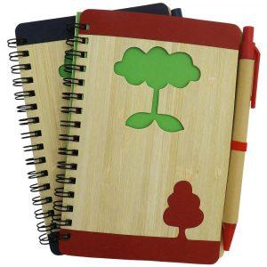 Bloco de Anotações Capa de Bambu YBX12690
