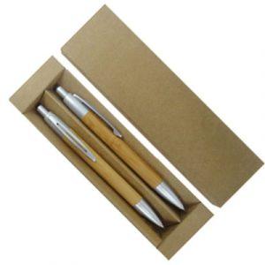 Conjunto Caneta e Lapiseira em Bambu YBP12170