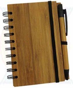Bloco de Anotações Ecológico Capa Bambu Pequeno YBX12695